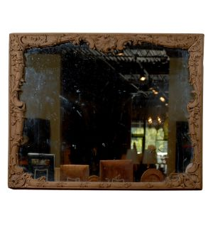 18th Century Louis XV Period Mirror in Wood Frame