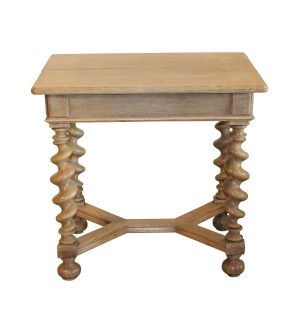 19th C Turned Leg Table
