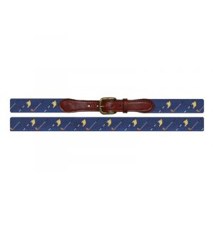 Golf Flags Needlepoint Belt