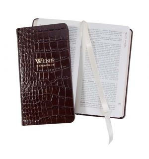 Mini Wine Notes -  Crocodile Embossed Leather
