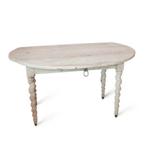 Bleached Drop Leaf Table