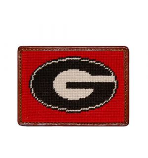 Georgia (Red) Needlepoint Card Wallet