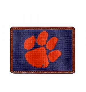 Clemson Needlepoint Card Wallet