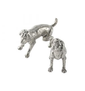 Brittney Spaniel Pewter Salt and Pepper