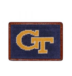 Georgia Tech Needlepoint Card Wallet