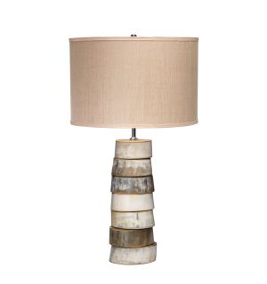 Polished Staked Horn Lamp