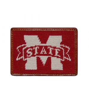 Mississippi State Needlepoint Card Wallet