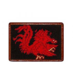 University of South Carolina Needlepoint Card Wallet
