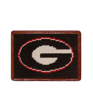 Georgia (Black) Needlepoint Card Wallet