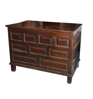 19th Century French Coffered