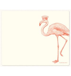 Royal Flamingo Mousepad and Notepad