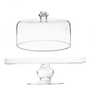 Berry & Thread Glassware Cake Pedestal Clear & Dome