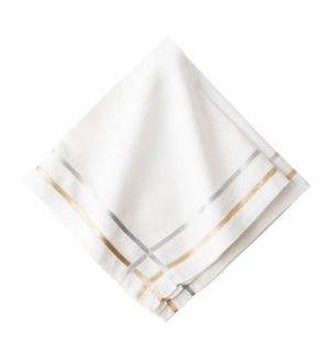 Metallic Ribbon Lattice Napkin