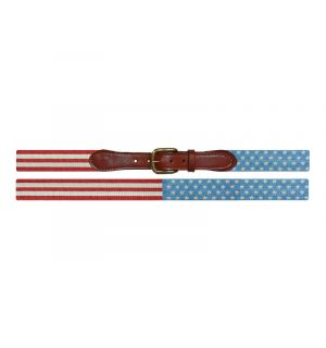Stars and Stripes Needlepoint Belt