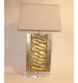 Gold Wood Fragment Lamps
