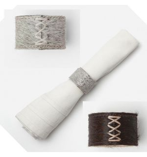 Morgan Cow Hide Napkin Rings