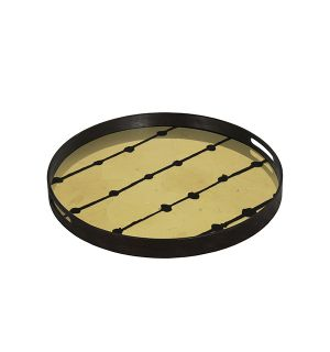 Brown Dots Tray