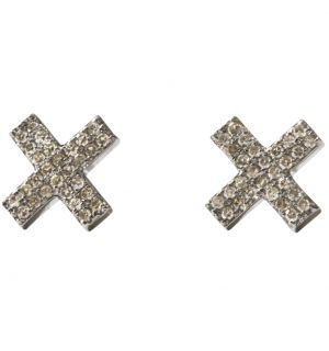 X Double Row Pave Studs