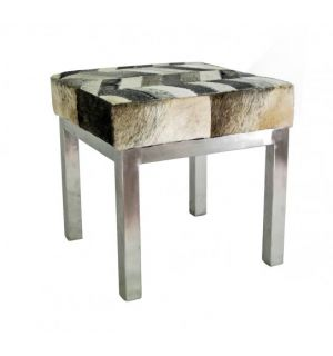 Chance Chevon Hide Stool