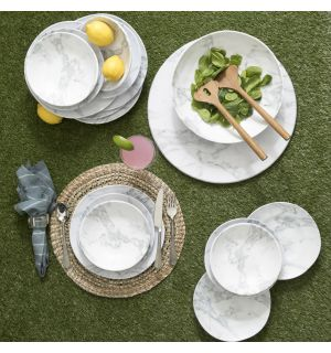 MARBLEIZED MELAMINE COLLECTION