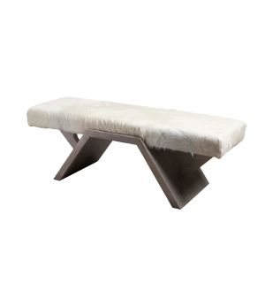 FUSION COWHIDE BENCH