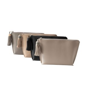 Jen Leather Zipper Pouch