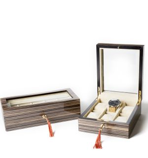Lacquered Zebrano Wood Watch Boxes