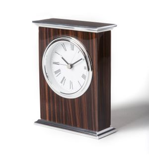 Ebony Wood Alarm Clock
