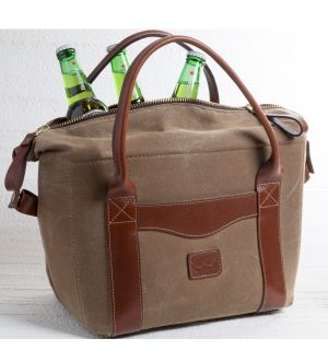 Waxed Canvas & Leather Cooler