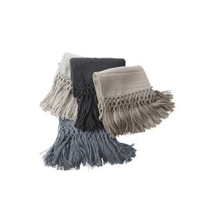 Baby Alpaca Fringe Throw