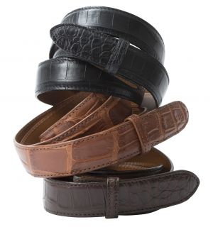"1 1/8"" Matte Alligator Belt Strap"