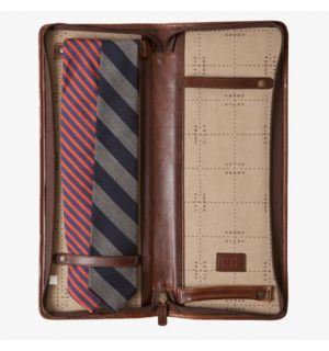 Evans Tie Case - Titan Milled Brown