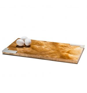 Burl Veneer Small Serving Board