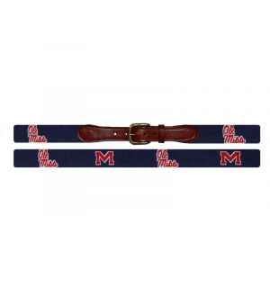 Ole Miss Needlepoint Belt
