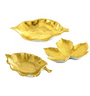 Gold Leaf Dish Collection