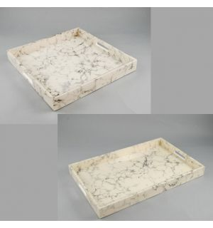 Cream Carrara Trays