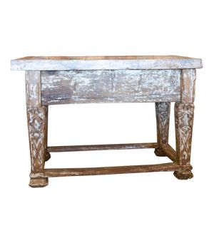 19th C French Stone Top Table
