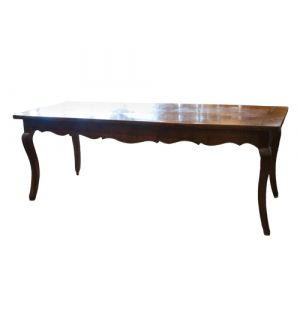 19th Century French Scalloped Apron Table