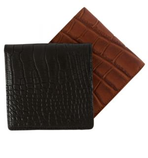 Matte Alligator Hipster Wallet