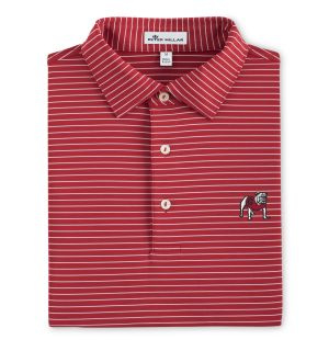 Georgia Stripe Golf Shirt