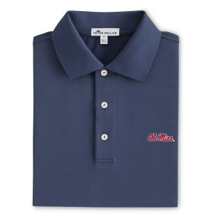 Ole Miss Solid Performance Polo