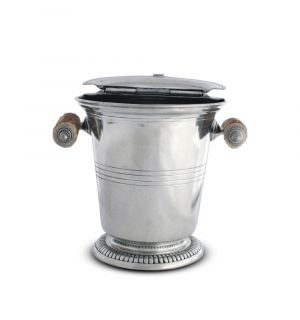 Pewter Ice Bucket with Antler Handles