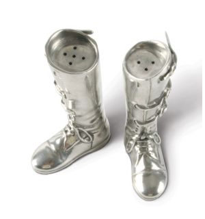 Pewter Riding Boots Salt & Pepper Set
