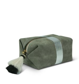 Storm Silver Suede Cosmetic Case