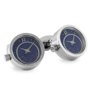 Prezioso Watch Rhodium Cufflinks